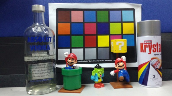 As you can see, the right side of the image is not ideally focused, most evidently on the Mario.