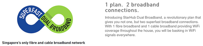 Leveraging on the strengths of the company's other products is a common strategy used by the three big telcos. Like StarHub, who bundles a cable broadband connection if you sign up for its 500Mbps or 1Gbps 'dual broadband' plan.