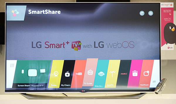 LG is set to debut new smart TVs running WebOS 2.0 at the upcoming CES. (Image source: LG.)