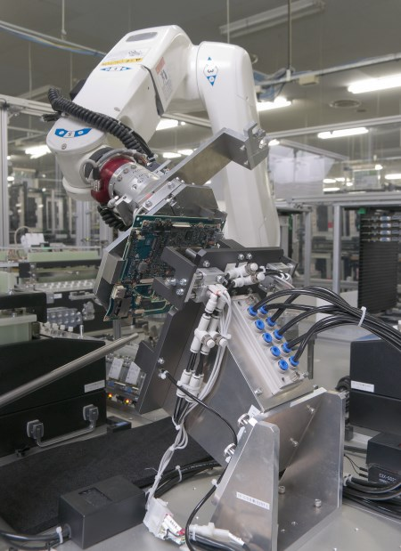 Panasonic has invested a couple million Yen into the process of developing customized robotics into its Toughbook manufacturing line.
