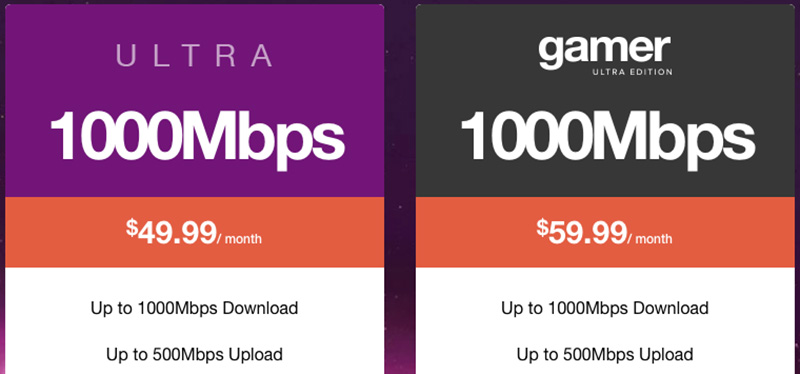 With SingTel and StarHub offering a 1Gbps upload speed limit for their 1Gbps fiber plans, would other ISPs follow suit? (Screengrab from MyRepublic's website.)