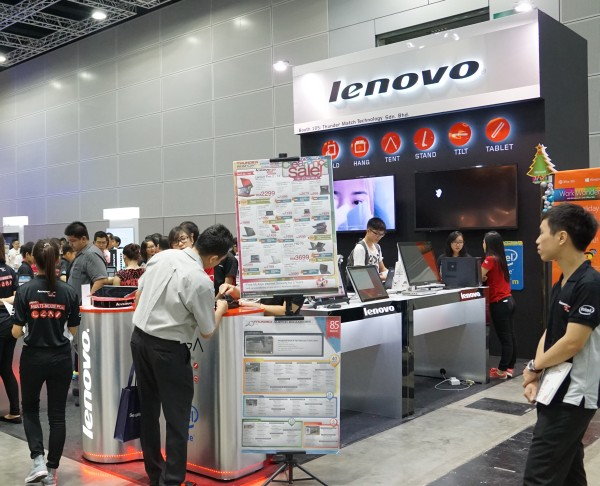 Lenovo was once again present at the event.