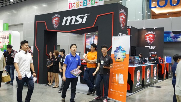 The MSI booth.