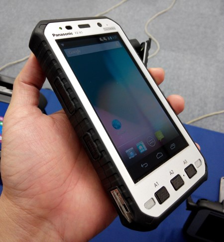 As mobility becomes more important in today's world, the Toughpad series of ruggedized tablets and even Android-based smartphones like the FZ-X1 featured here is the future.
