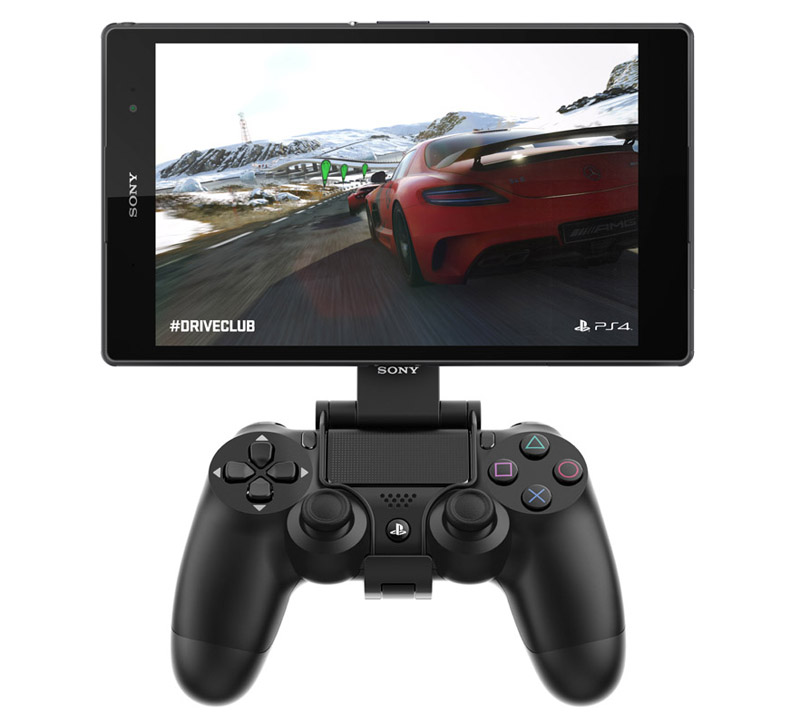 You can even get a Sony Game Control Mount to mount your tablet onto your controller (sold separately).