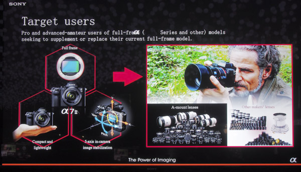 Professionals and advanced-amateurs are the target market for Sony's A7 series.