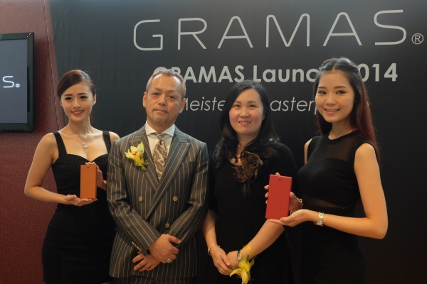 (2nd from left) GRAMAS founder and CEO Yuichi Sakamoto and Alice Chng, Director of TOGUN Malaysia Sdn Bhd.
