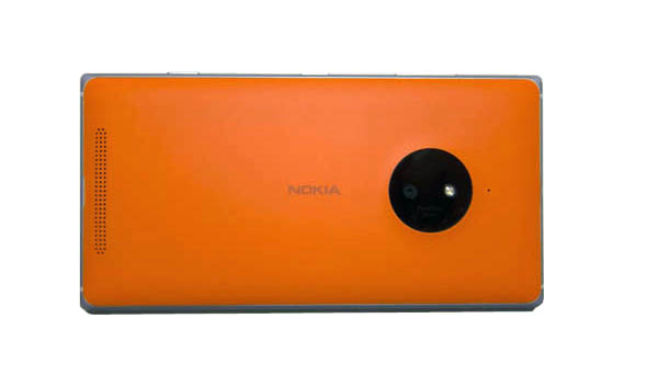 The Lumia 830 is available in Bright Orange, Bright Green, Black or White.