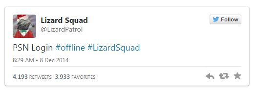 Seems like the Lizard Squad is claiming responsibility for this one.