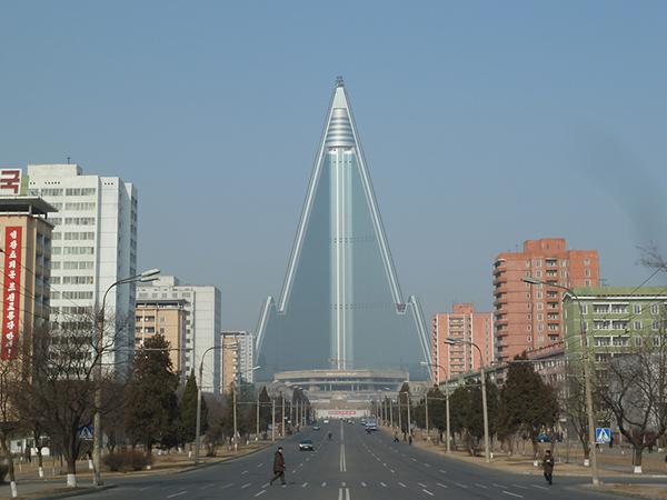 Pyongyang's Ryugyong Hotel.