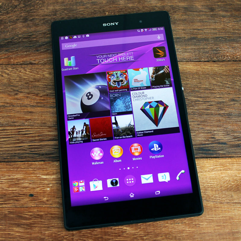 The Xperia Z3 Tablet Compact is Sony's first 8-inch tablet.