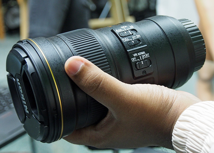 The new AF-S Nikkor 300mm f/4D IF ED  from Nikon is small and light enough to hold comfortably in one hand.