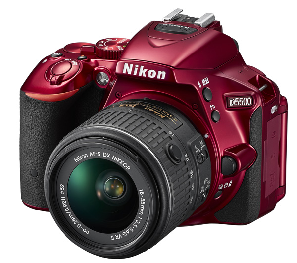 The D5500 is also available in red.
