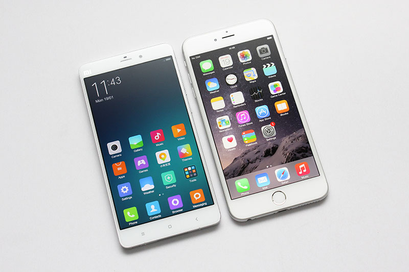 Xiaomi note vs iphone 6 plus