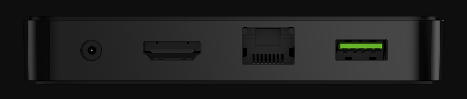 Like most microconsoles, the Forge TV features a single USB 3.0 port, DC in and the standard HDMI input.