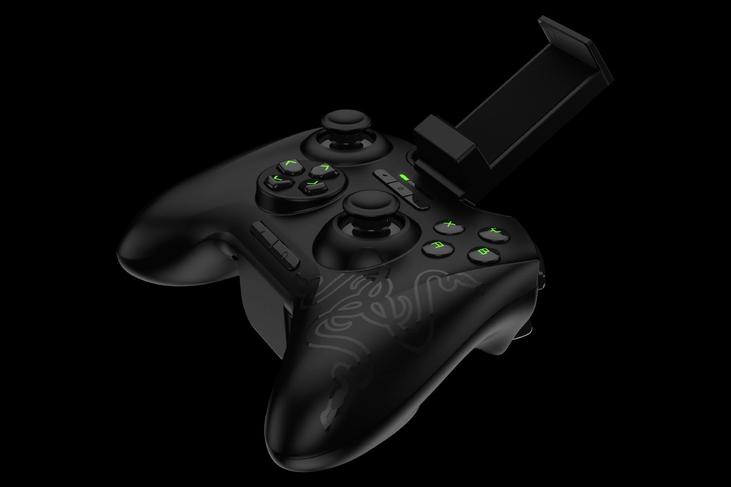 The clip comes with Razer Serval and attaches snugly to the controller.