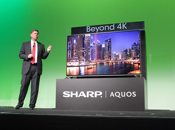tech news ces  sharp has ultra hd tv goes beyond k
