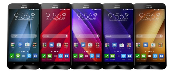 ASUS is said to be introducing the next generation ZenFone series with a fingerprint sensor. Seen here is the ZenFone 2 series.