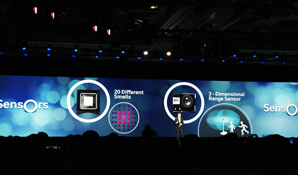 Samsung has been developing new smell and 3D range sensors to be used in IoT devices. (Image source: Samsung)