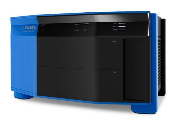 Linksys also announced the new WRT Network Storage Bay. <br>Image source: Linksys.