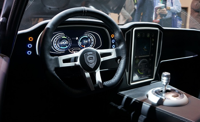 The dashboard and infotainment system of the Renovo Coupe are powered by the NVIDIA Drive system and was silky smooth just as it was showcased on its own.