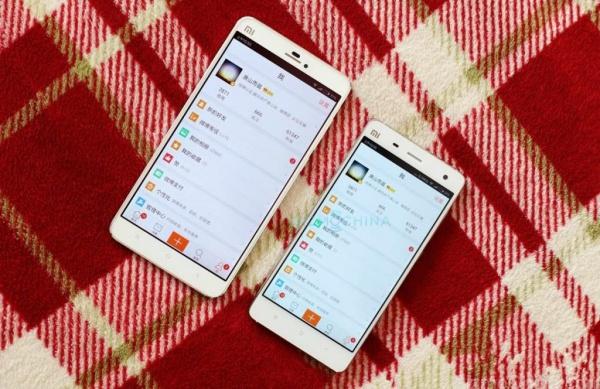 The Redmi Note 2 compared to the 5-inch Mi 4. <br> Image source: GizmoChina