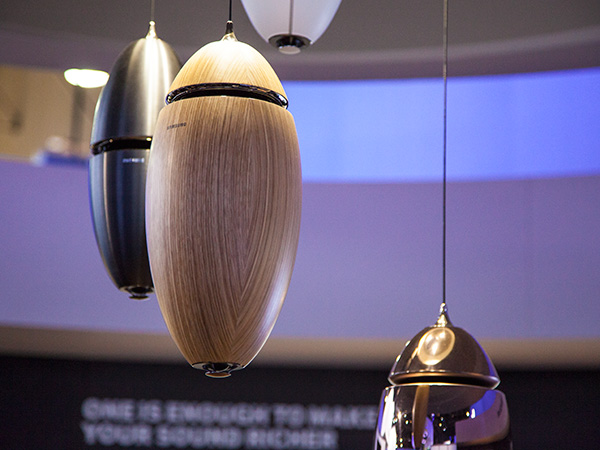 You can also hang the WAM7500 wireless speaker from the ceiling and pretend they are part of your home decor.