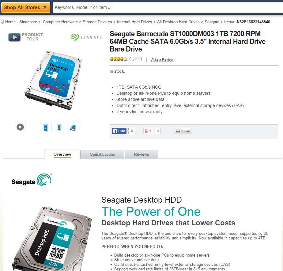 Notice how the product images differ even on the same product page on Newegg? This particular example is a non-issue since it's just a change in visual appearance following Seagate's new corporate identity. However it illustrates the problem where details, specs and images may not be updated on the online retailer page because the old and new product ships by the same product code.