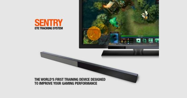 The SteelSeries Sentry eye-tracking hardware. <br>Image source: SteelSeries.