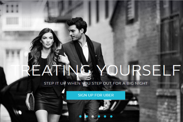 A screenshot of Uber's homepage. <br>Image source: Uber.