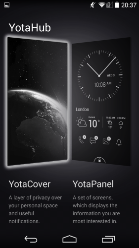 Two of the three Yota apps can be found in YotaHub.