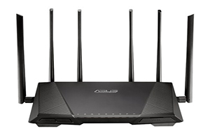 The ASUS RT-AC3200 router.