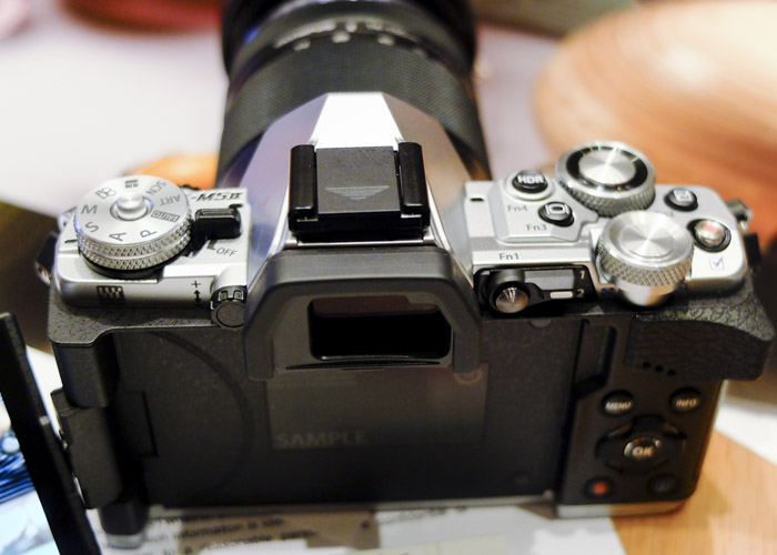 The rear view of the OM-D E-M5 Mark II.