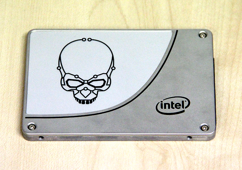 The Intel SSD 730 Series looks industrial and has a logo of a skull emblazoned on the case, reminding us of Intel's older Skulltrail platform.