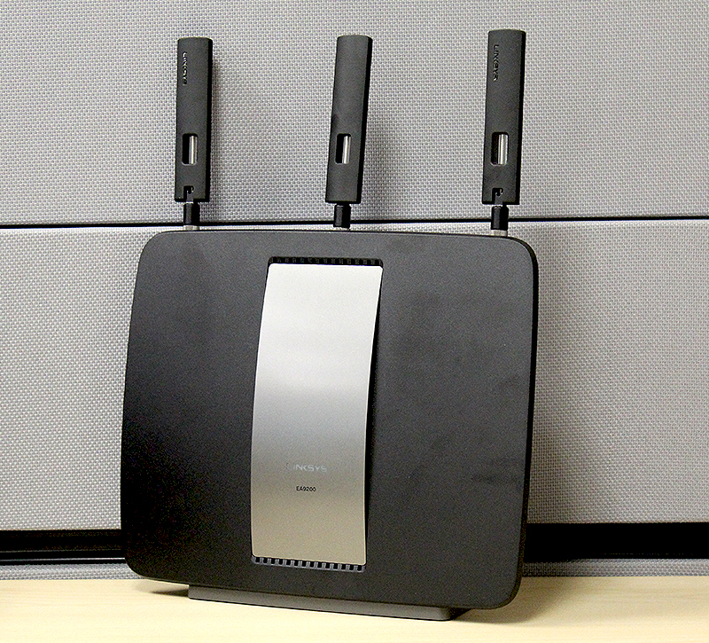 The new Linksys EA9200 router stands tall as one of the brand's latest flagship routers.