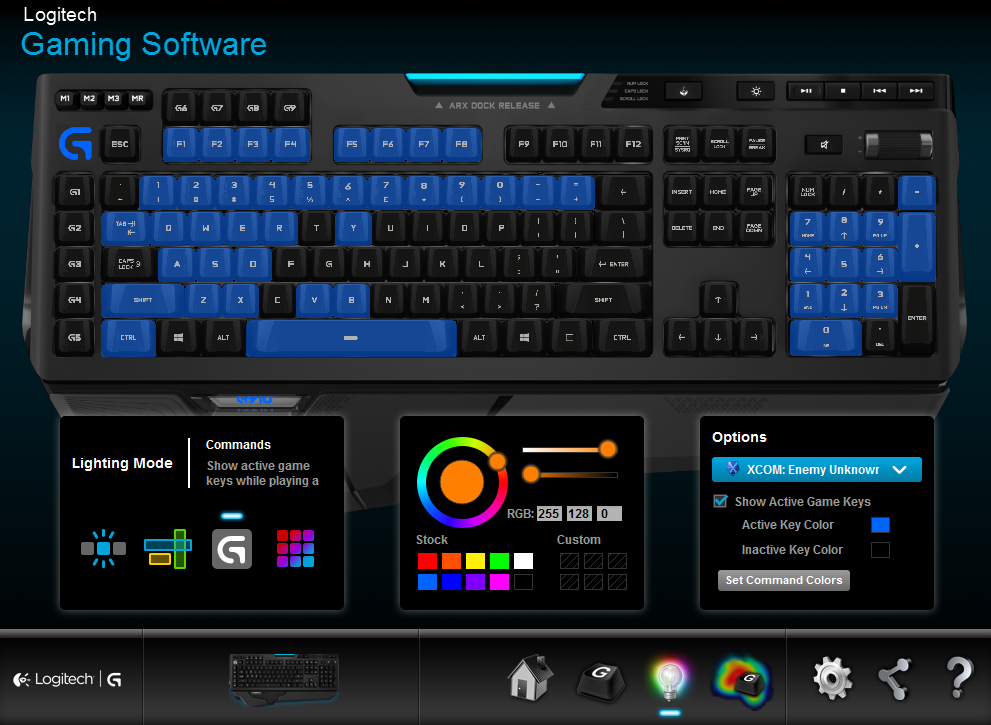 you need to download the logitech gaming software or the specialized