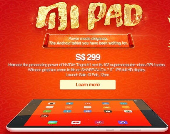 Is the Xiaomi Mi Pad the Android tablet that you have been waiting for? <br>Image source: Mi Singapore
