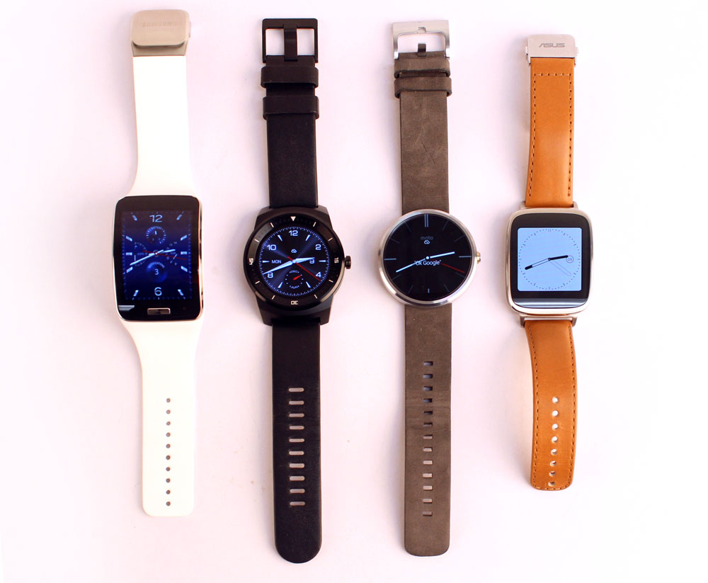 Four of the most popular smartwatches released last year. But which is the best?