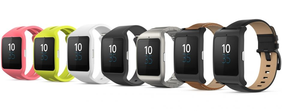 Just some of the strap options available for the SmartWatch 3.