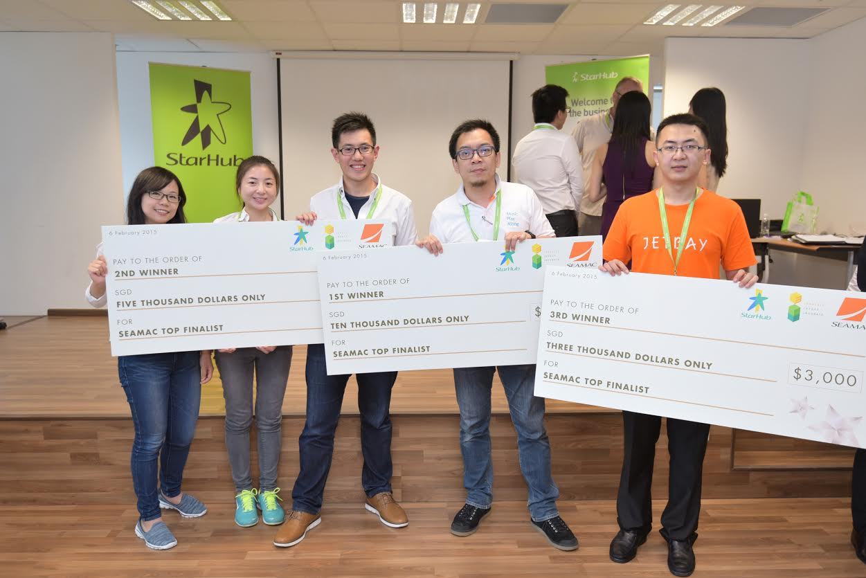 The three winning teams, Claco Music, Erdo and Jetbay will be heading to Barcelona in March to compete at the Mobile App Challenge World Grand Finals.