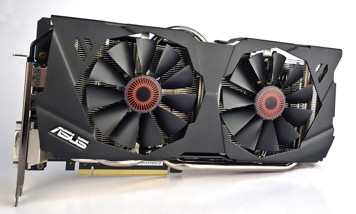 The ASUS Strix GeForce GTX 980 OC Edition features the chunky DirectCU II cooling system. It keeps the card's Super Alloy Power components, which drives its 10-phase power design system, operating cool and stable under extreme conditions.