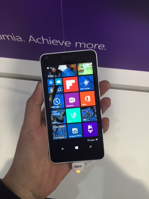 The 5-inch Microsoft Lumia 640.