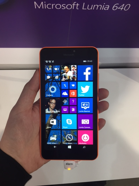 The larger 5.7-inch Lumia 640 XL.