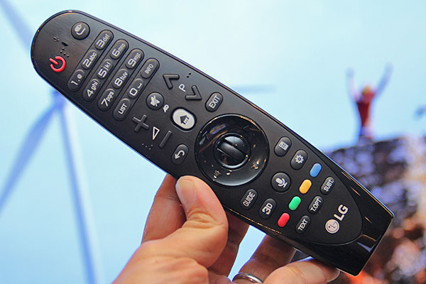 With the added number pad, LG wants its 2015 Magic Remote to replace the traditional remote. Support for local pay-TV set-top boxes is also in the works.