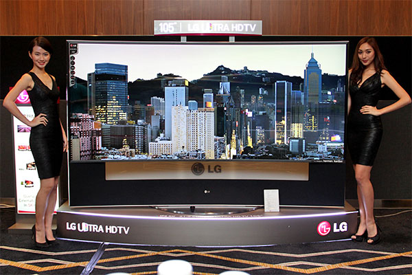 The 105-inch UC9T is the largest UHD TV LG has to date.