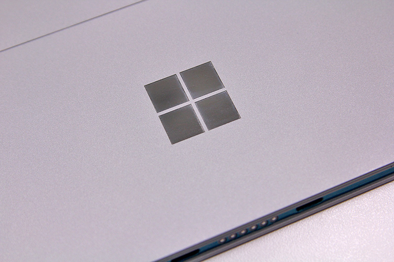 The simple Surface logo on the kickstand has also made way for the four-square Microsoft logo.