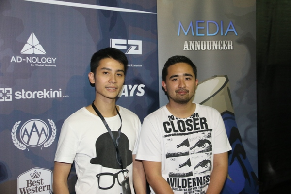 Two of the four co-founders of Fallout Gaming, Francis Goh and Adrian Gaffor.