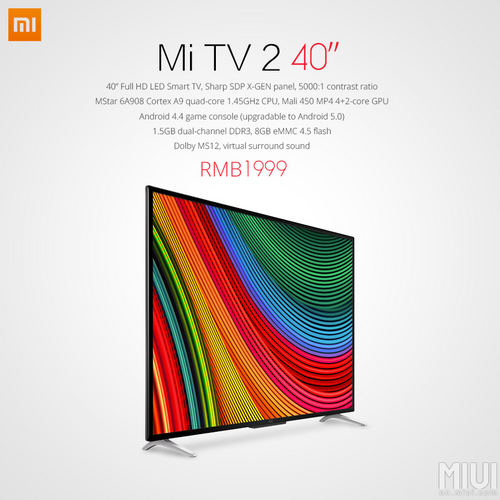 Xiaomi Launches 40 Inch Full Hd Led Smart Tv That Costs Rm1178