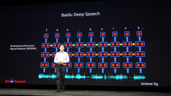 A diagram of how Baidu's Deep Speech program operates.