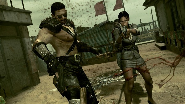 Even Sheva's officewear makes more sense than this 'Warrior' getup. <br> Image source: JEUXVIDEO.